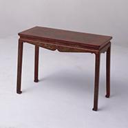 红漆雕填戗金琴桌