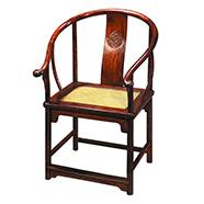 明式锦地龙纹圈椅