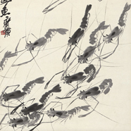 齐白石  鱼虾欢戏图