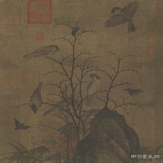 黄居寀 山鹧棘雀图