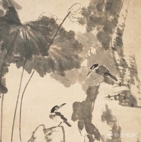 八大山人朱耷留世之作《荷花翠鸟图轴》赏析
