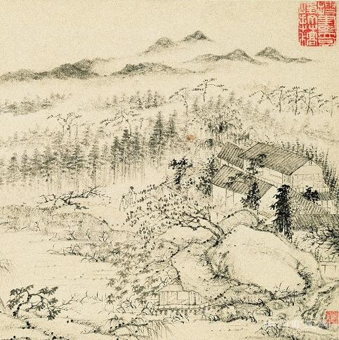 石涛与张大千跨世纪合作《溪南八景图册》欣赏