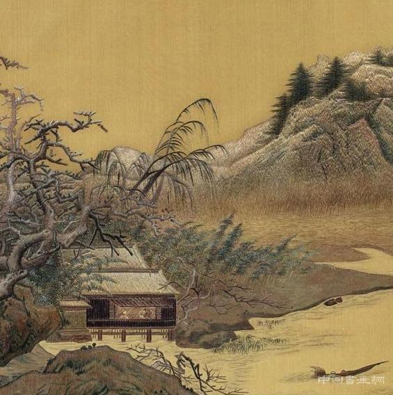 江南雪景《雪堂客话图》