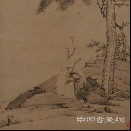 《长松羽士图》
