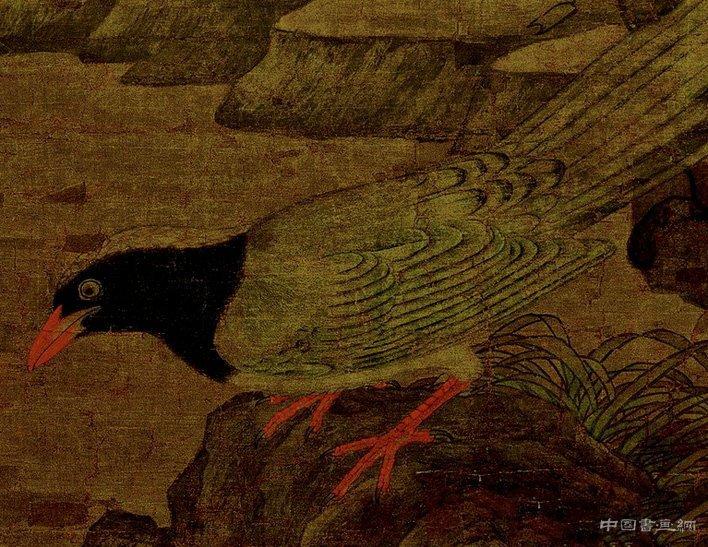 《山鹧棘雀图》