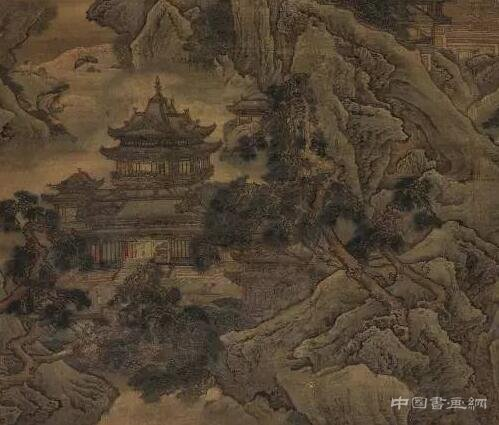 袁耀《蓬莱仙境》图轴
