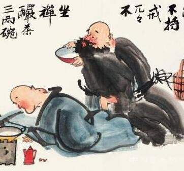 <strong>黄永玉笔下的醉酒人物</strong>