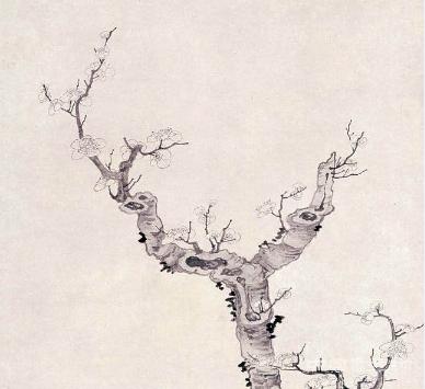 墨梅奇石,笔简意远——陈洪绶《梅石图轴》赏析