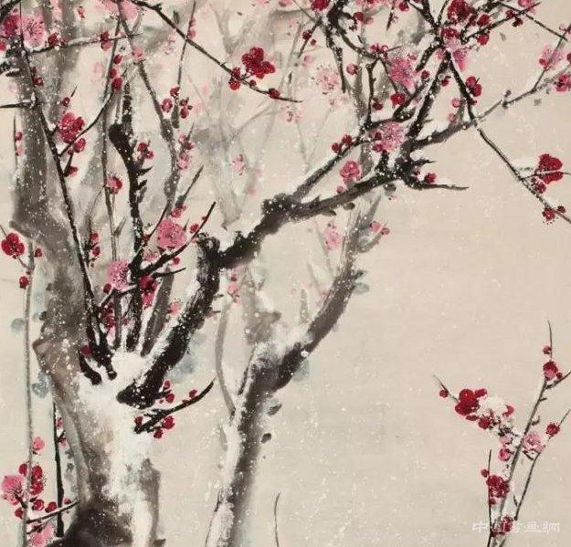 王雪涛笔下的红梅