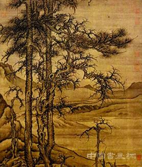 李成《寒林平野图》:如梦雾中