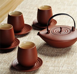 涟漪陶瓷茶具