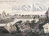<b>中国画的新声——赏析舒春光的西部大漠山水画</b>