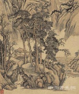 清 王翚 水阁幽人图