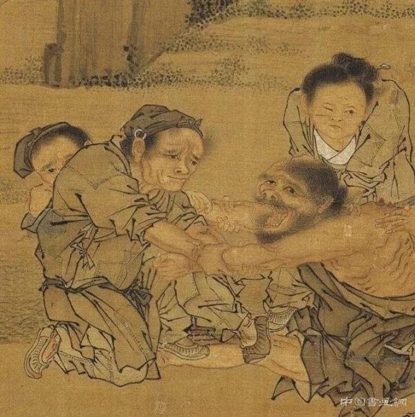 宋画里的医者与药铺,从灸艾图到清明上河