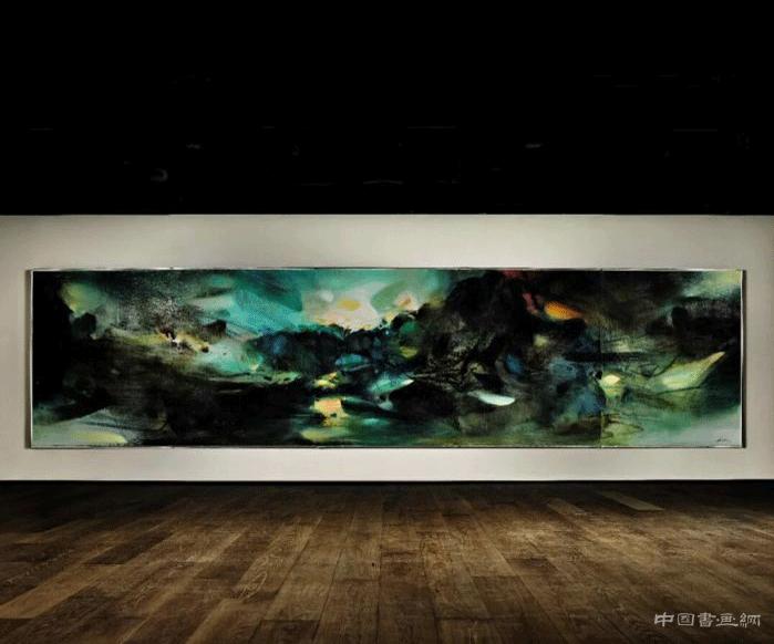<b>朱德群五联屏《自然颂》亮相现代艺术晚拍</b>