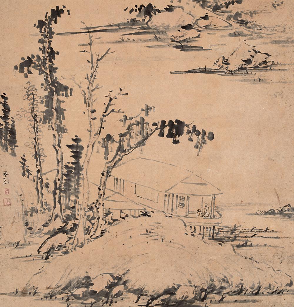 弘仁_新安画派的始祖 弘仁 - 中国书画网