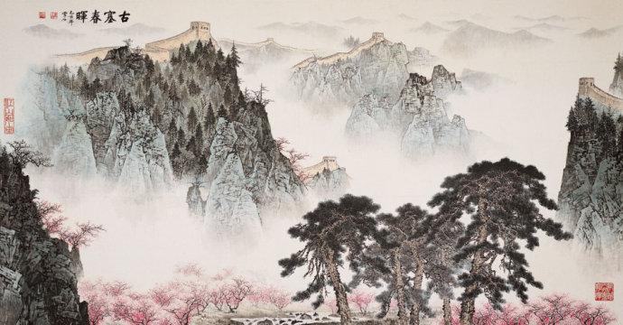 白雪石山水画作品(一)