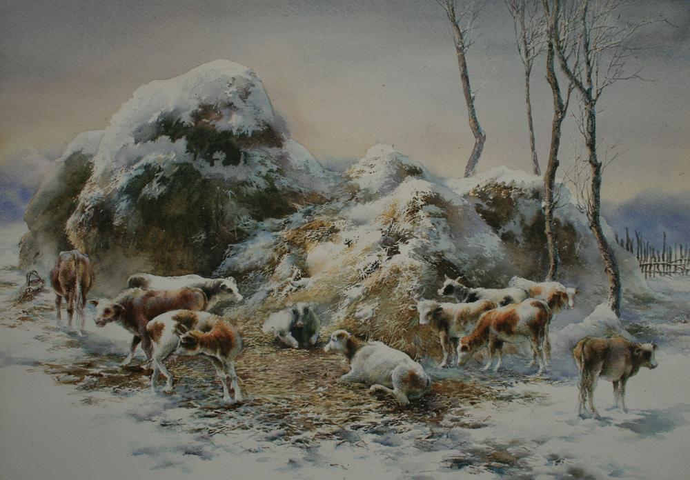 国画仙鹤李