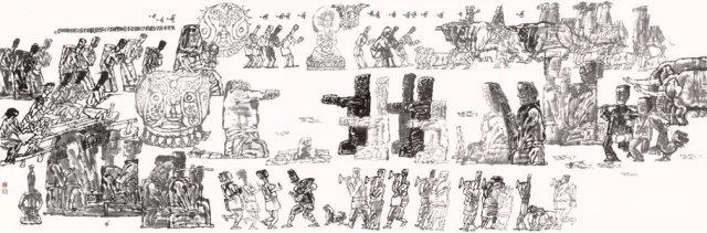古丝绸之路绘画作品分享展示