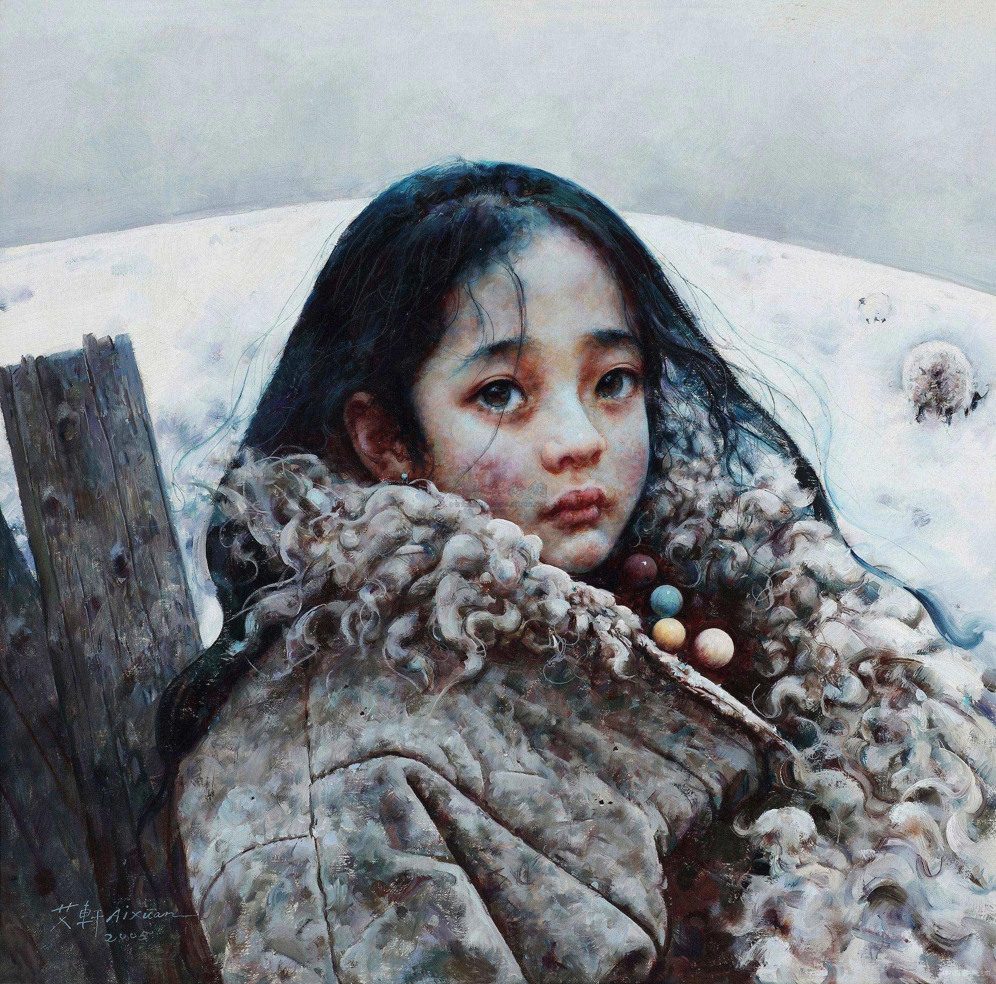 """""""之最高桂冠,但这些光环头衔显然不如其留下的画作更能说明怀斯的伟大。六十年前,那幅《克里斯蒂娜的世界》(1948)使怀斯在美国家喻户晓,画中人是怀斯的邻居克里斯蒂娜•奥尔森,她先天患小儿麻痹症却有着高贵的尊严,一生拒绝使用轮椅,宁愿在污秽中生存也不愿被寄养在他人门下,画面上的她腾挪身体在广袤的秋原上爬行,遥望远处的家。如今,高居于山坡上的克里斯蒂娜的木屋早已变成缅因州的旅游景点,很多喜爱怀斯的人从各地赶来,静静坐到山坡下面,以""""怀斯式的凝视""""体验那份对于生命尊"""
