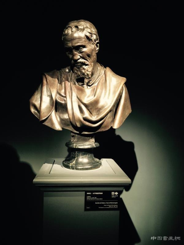 弗泰拉《米开朗基罗胸像》,石膏复制品,原作藏于佛罗伦萨巴杰罗