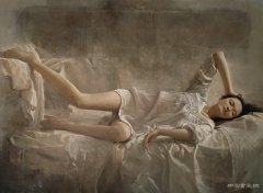 毛以岗 如梦令160x120cm 布面油画 2009年
