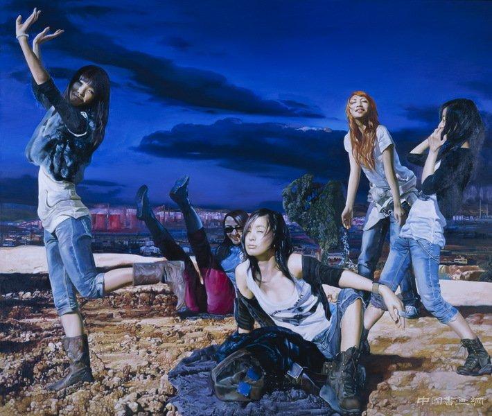 陳明 今天的盛宴 200x170cm 布面油畫 2007年