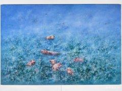 吕顺 幸福的时光 200x300cm 布面油画 2012年