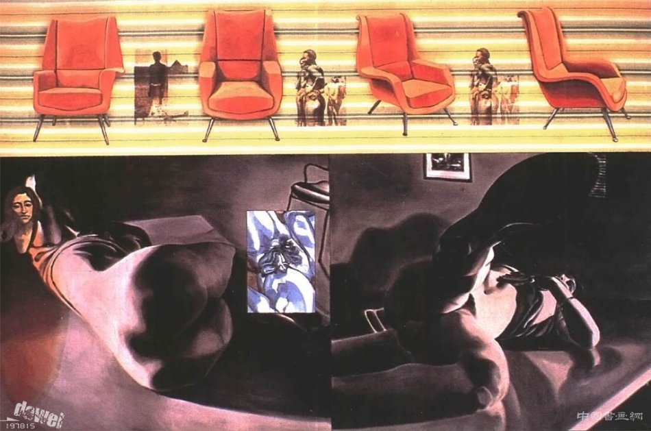 大卫.萨利(David Salle)的新表现主义绘画