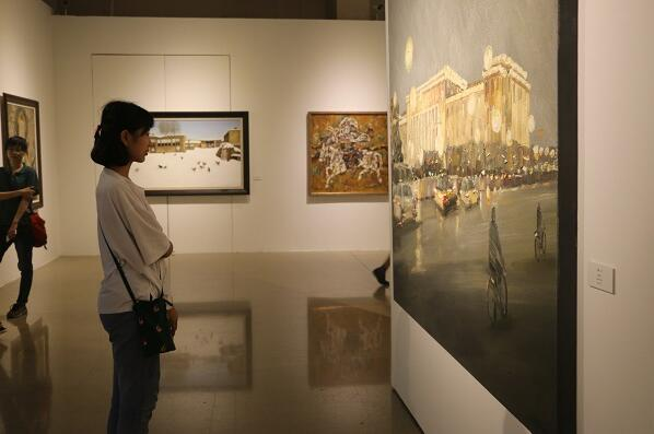 风过草原·追寻——包头市油画作品展在京开幕