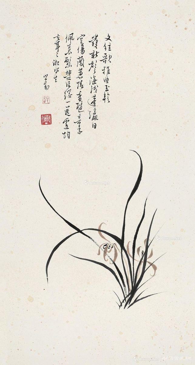 水墨画兰花