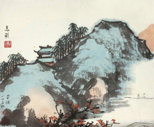 宋美龄的国画造诣及其山水画作欣赏