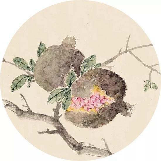 华艺国际17秋拍:吴湖帆《仿沈石田蔬果图》