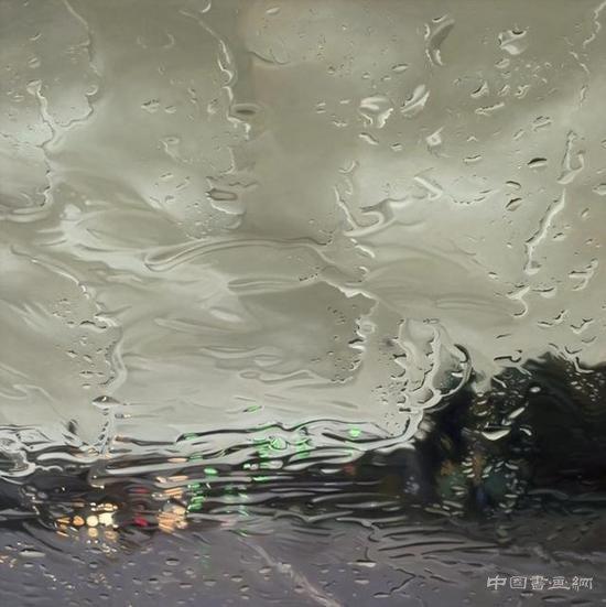 超写实主义油画 天空之下漫无经心