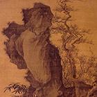 [明]唐寅《灌木叢篠圖軸