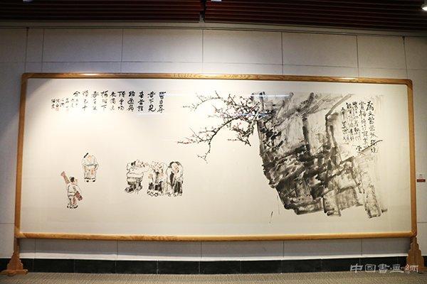 """""""吴悦石、莫言、杨华山翰墨三人行""""展览行至威海"""