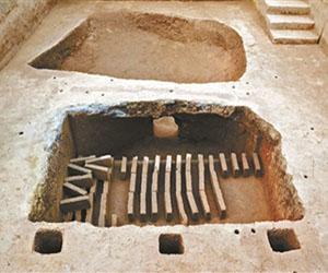 <b>马蹄形砖窑紧邻墓葬 解密汉代青砖烧制</b>
