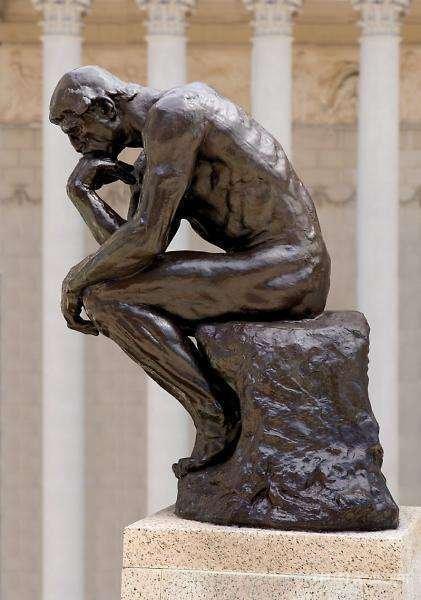 罗丹创作的人物雕像