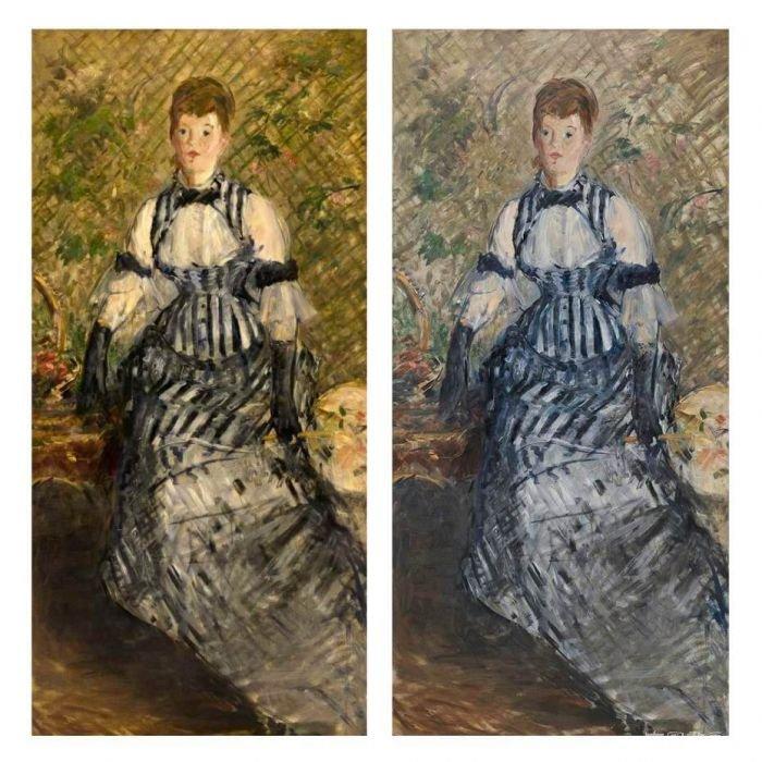 修复之后 你觉得这条裙子是啥颜色的?