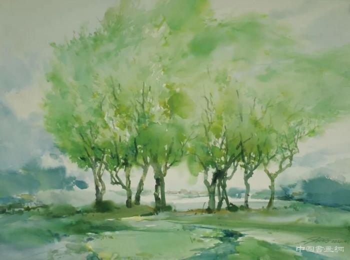 """刘海粟美术馆展出""""自然的气息""""水彩画展"""