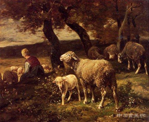 赏析:油画中的羊