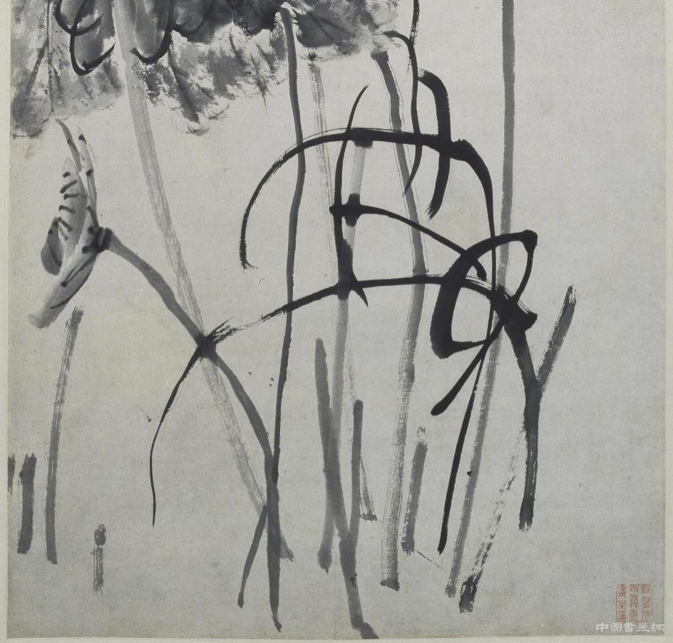清 李鱓《荷花图》轴