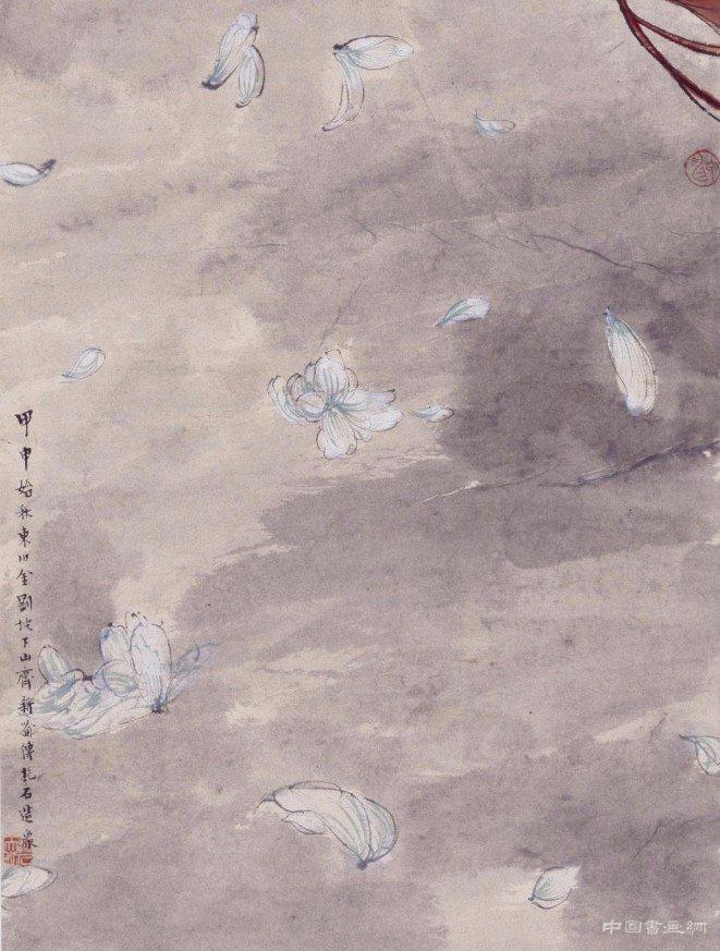 现代 傅抱石《天女散花图》轴_艺术文化