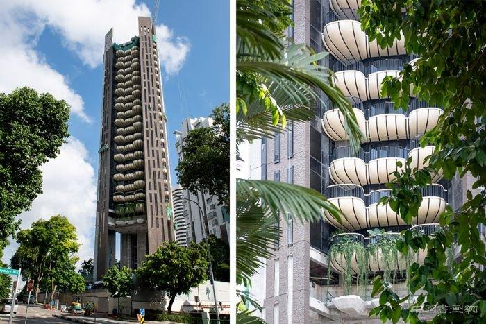 设计工作室 heatherwick 在亚洲的第一件住宅作品 eden,位于新加坡图片