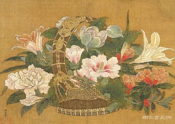 宋 李嵩《花篮图》