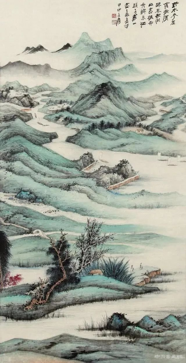 张大千:画山水可以提高人之思想,培养人之情操
