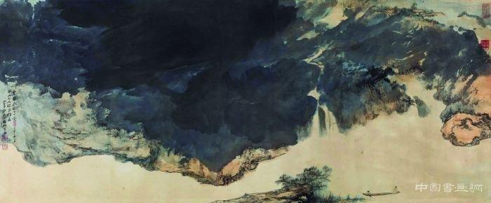 浅聊张大千泼墨泼彩山水艺术价值和收藏行情