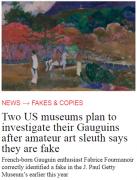 <b>美博物馆藏两件高更画被质疑为赝品</b>