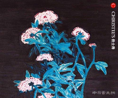 <b> 常玉最大尺幅蓝枝粉菊现身佳士得香港春拍</b>