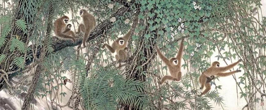 《密林戏猿》